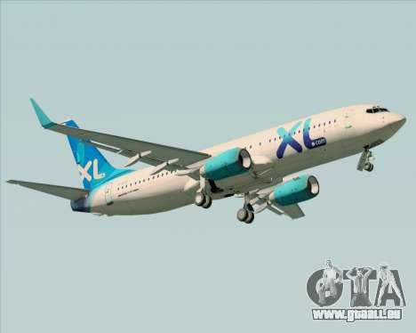 Boeing 737-800 XL Airways für GTA San Andreas Seitenansicht