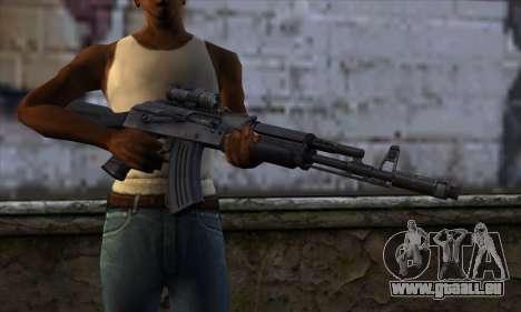 AK-103 Ravaged für GTA San Andreas dritten Screenshot