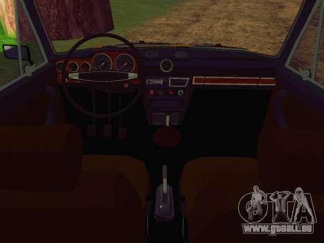 VAZ 2106 GAI pour GTA San Andreas vue de droite