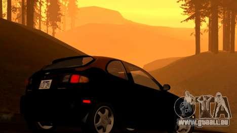 Daewoo Lanos Sport NOUS 2001 pour GTA San Andreas vue de dessous