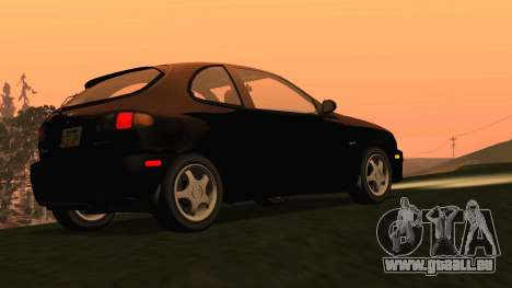 Daewoo Lanos Sport NOUS 2001 pour GTA San Andreas sur la vue arrière gauche