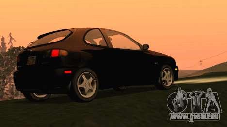 Daewoo Lanos Sport UNS 2001 für GTA San Andreas zurück linke Ansicht