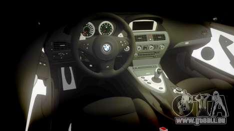 BMW M6 Vossen VVS CV3 pour GTA 4 est une vue de l'intérieur