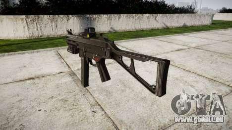 Allemand pistolet mitrailleur HK UMP 45 cible pour GTA 4 secondes d'écran