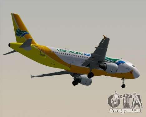 Airbus A320-200 Cebu Pacific Air für GTA San Andreas Unteransicht