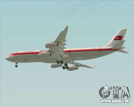 Airbus A340-300 Air Koryo pour GTA San Andreas vue de droite