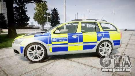 Skoda Octavia vRS Comb Metropolitan Police [ELS] für GTA 4 linke Ansicht
