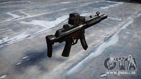 Gun MP5SD EOTHS CS b Ziel für GTA 4 Sekunden Bildschirm