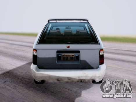GTA V Minivan pour GTA San Andreas sur la vue arrière gauche