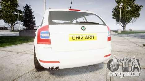 Skoda Octavia vRS Combi Unmarked Police [ELS] für GTA 4 hinten links Ansicht