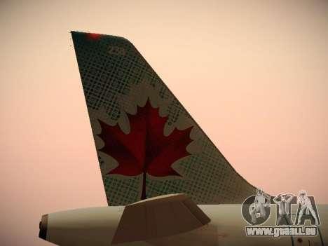 Airbus A320-214 Air Canada pour GTA San Andreas salon