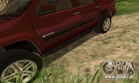Chevrolet Tahoe Final für GTA San Andreas Innen