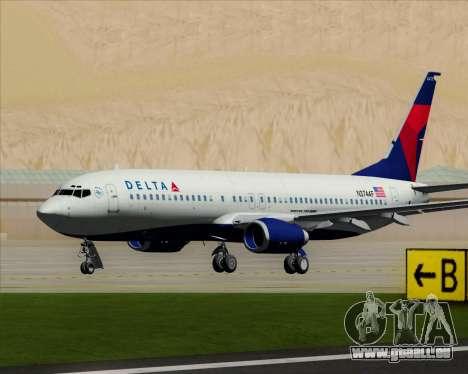 Boeing 737-800 Delta Airlines pour GTA San Andreas laissé vue