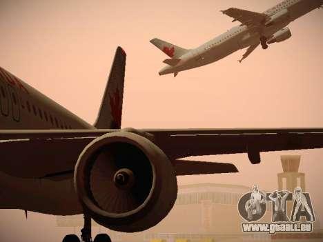 Airbus A320-214 Air Canada pour GTA San Andreas vue de dessous