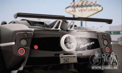 Pagani Zonda 760RS pour GTA San Andreas laissé vue