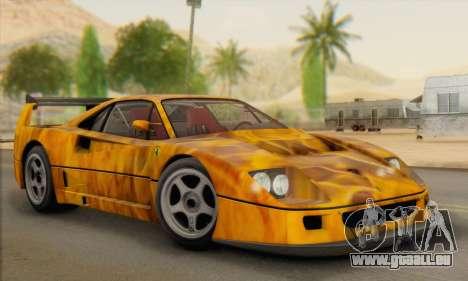 Ferrari F40 Competizione Black Revel für GTA San Andreas Seitenansicht