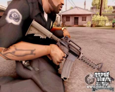 M4A1 BF4 pour GTA San Andreas quatrième écran