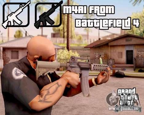 M4A1 BF4 pour GTA San Andreas troisième écran