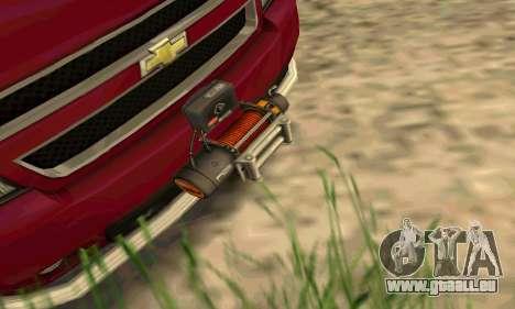 Chevrolet Tahoe Final für GTA San Andreas Rückansicht