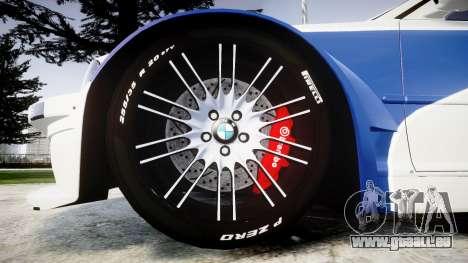 BMW M3 E46 GTR Most Wanted plate NFS-Hero für GTA 4 Rückansicht