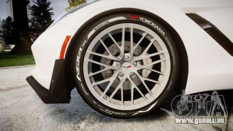 Chevrolet Corvette Z06 2015 TireYA1 für GTA 4 Rückansicht