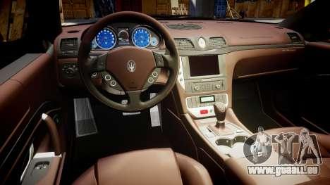 Maserati GranTurismo S 2010 PJ 4 pour GTA 4 Vue arrière