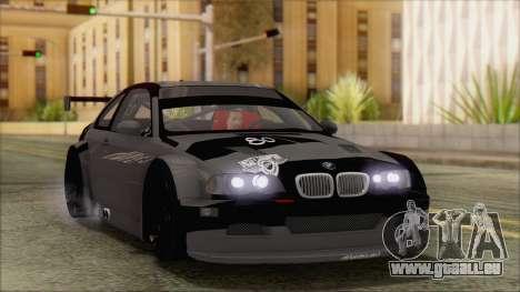 BMW M3 E46 GTR pour GTA San Andreas vue de côté