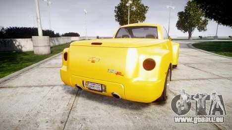 Chevrolet SSR pour GTA 4 Vue arrière de la gauche