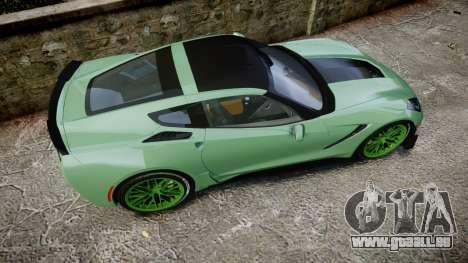 Chevrolet Corvette Z06 2015 TireCon für GTA 4 rechte Ansicht