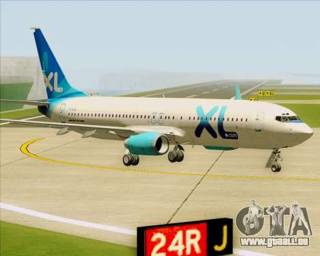 Boeing 737-800 XL Airways für GTA San Andreas linke Ansicht