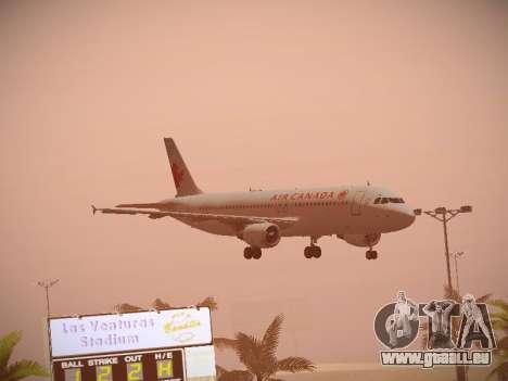 Airbus A320-214 Air Canada pour GTA San Andreas vue intérieure