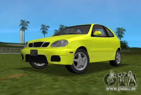 Daewoo Lanos Sport NOUS 2001 pour GTA Vice City vue arrière