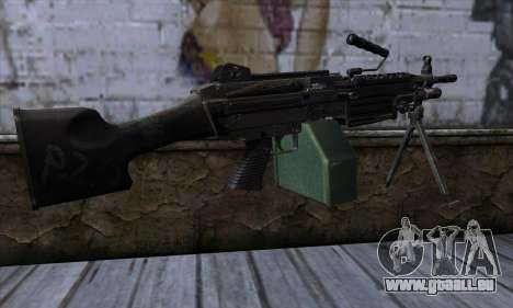 M249 v1 pour GTA San Andreas deuxième écran