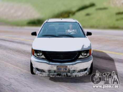 GTA V Minivan pour GTA San Andreas vue de droite