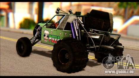 Buggy Fireball from Fireburst PJ pour GTA San Andreas laissé vue