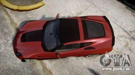 Chevrolet Corvette Z06 2015 TirePi2 pour GTA 4 est un droit