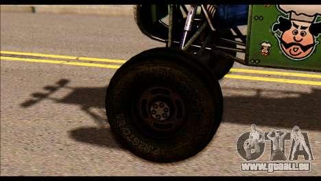 Buggy Fireball from Fireburst PJ pour GTA San Andreas sur la vue arrière gauche