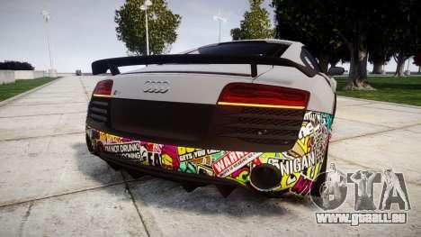 Audi R8 LMX 2015 [EPM] Sticker Bomb für GTA 4 hinten links Ansicht