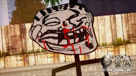 Skin de Meme Troll Golpiado für GTA San Andreas dritten Screenshot