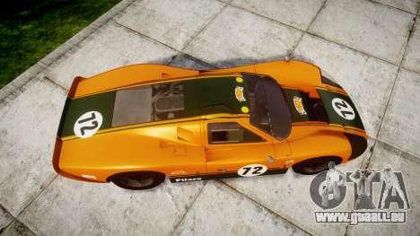 Ford GT40 Mark IV 1967 PJ Mudino 72 pour GTA 4 est un droit