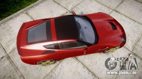 Chevrolet Corvette C7 Stingray 2014 v2.0 TireBFG pour GTA 4 est un droit