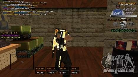 C- HUD A.C.A.B pour GTA San Andreas deuxième écran