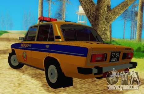 VAZ 2106 GAI für GTA San Andreas zurück linke Ansicht