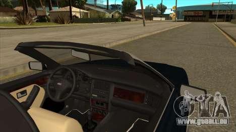 Audi 80 Cabrio für GTA San Andreas zurück linke Ansicht