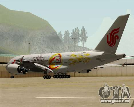 Airbus A380-800 Air China für GTA San Andreas obere Ansicht