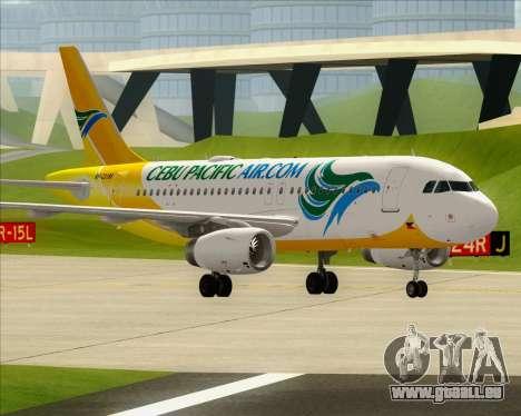 Airbus A319-100 Cebu Pacific Air für GTA San Andreas Innen