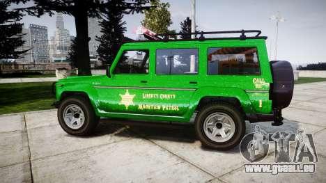 GTA V Benefactor Dubsta [ELS] Sheriff für GTA 4 linke Ansicht