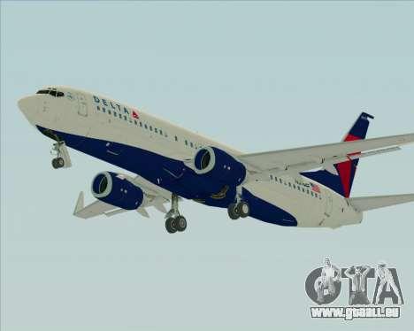 Boeing 737-800 Delta Airlines für GTA San Andreas Unteransicht