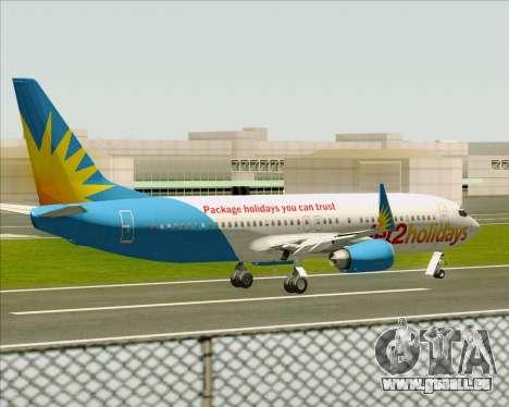 Boeing 737-800 Jet2Holidays pour GTA San Andreas vue de dessous