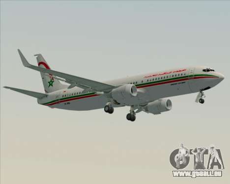 Boeing 737-8B6 Royal Air Maroc (RAM) für GTA San Andreas zurück linke Ansicht